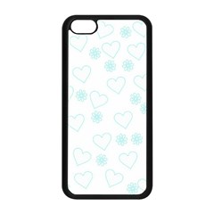 Flowers And Hearts Apple iPhone 5C Seamless Case (Black)