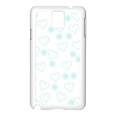 Flowers And Hearts Samsung Galaxy Note 3 N9005 Case (White)