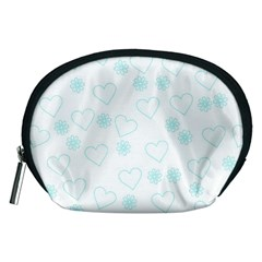 Flowers And Hearts Accessory Pouches (Medium)