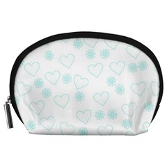 Flowers And Hearts Accessory Pouches (Large)