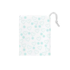 Flowers And Hearts Drawstring Pouches (Small)