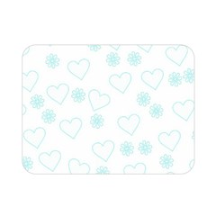 Flowers And Hearts Double Sided Flano Blanket (mini)