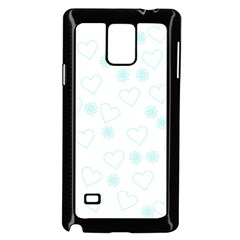 Flowers And Hearts Samsung Galaxy Note 4 Case (black)