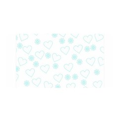 Flowers And Hearts Satin Wrap