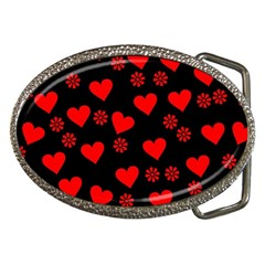 Flowers And Hearts Belt Buckles
