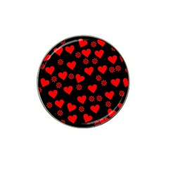 Flowers And Hearts Hat Clip Ball Marker (4 pack)