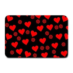 Flowers And Hearts Plate Mats