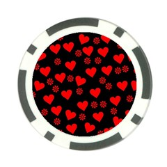 Flowers And Hearts Poker Chip Card Guards