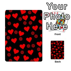 Flowers And Hearts Multi Purpose Cards (rectangle)