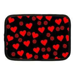 Flowers And Hearts Netbook Case (Medium)