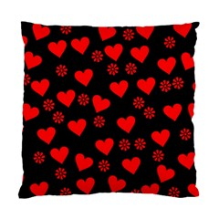 Flowers And Hearts Standard Cushion Cases (Two Sides)