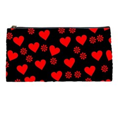 Flowers And Hearts Pencil Cases
