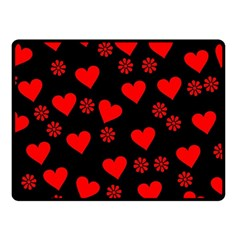 Flowers And Hearts Fleece Blanket (Small)