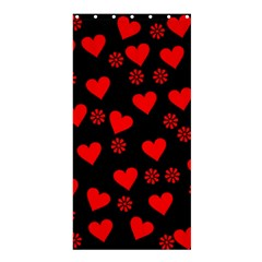 Flowers And Hearts Shower Curtain 36  x 72  (Stall)