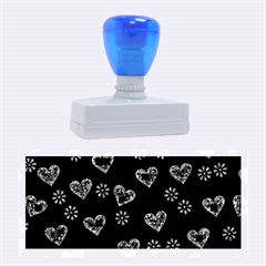 Flowers And Hearts Rubber Stamps (large)