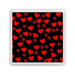 Flowers And Hearts Memory Card Reader (Square)