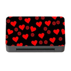 Flowers And Hearts Memory Card Reader with CF