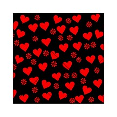 Flowers And Hearts Acrylic Tangram Puzzle (6  x 6 )