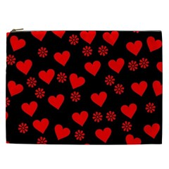 Flowers And Hearts Cosmetic Bag (XXL)