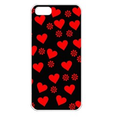 Flowers And Hearts Apple iPhone 5 Seamless Case (White)