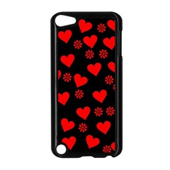 Flowers And Hearts Apple iPod Touch 5 Case (Black)