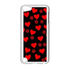 Flowers And Hearts Apple iPod Touch 5 Case (White)