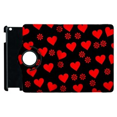 Flowers And Hearts Apple Ipad 3/4 Flip 360 Case