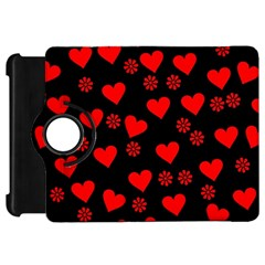 Flowers And Hearts Kindle Fire HD Flip 360 Case