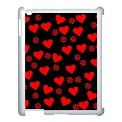Flowers And Hearts Apple iPad 3/4 Case (White)