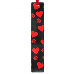 Flowers And Hearts Large Book Marks