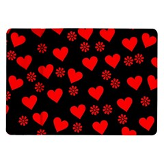 Flowers And Hearts Samsung Galaxy Tab 10.1  P7500 Flip Case