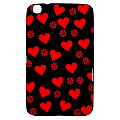 Flowers And Hearts Samsung Galaxy Tab 3 (8 ) T3100 Hardshell Case