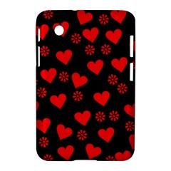 Flowers And Hearts Samsung Galaxy Tab 2 (7 ) P3100 Hardshell Case