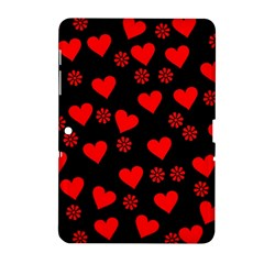 Flowers And Hearts Samsung Galaxy Tab 2 (10.1 ) P5100 Hardshell Case