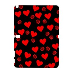 Flowers And Hearts Samsung Galaxy Note 10.1 (P600) Hardshell Case