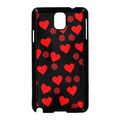 Flowers And Hearts Samsung Galaxy Note 3 Neo Hardshell Case (Black)