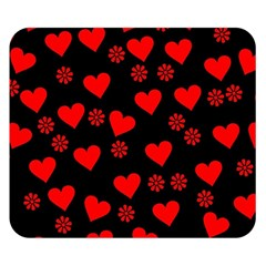 Flowers And Hearts Double Sided Flano Blanket (Small)