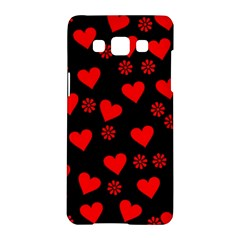 Flowers And Hearts Samsung Galaxy A5 Hardshell Case