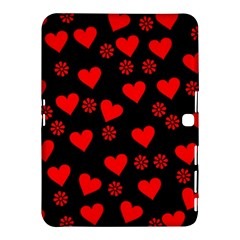 Flowers And Hearts Samsung Galaxy Tab 4 (10.1 ) Hardshell Case