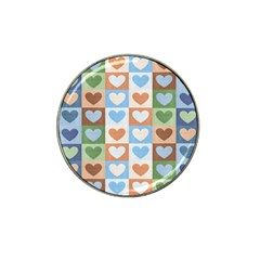 Hearts Plaid Hat Clip Ball Marker (10 pack)