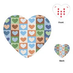 Hearts Plaid Playing Cards (heart)