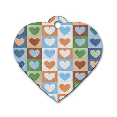 Hearts Plaid Dog Tag Heart (Two Sides)