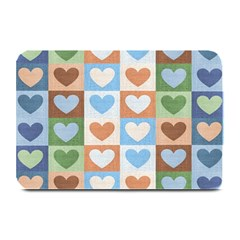 Hearts Plaid Plate Mats
