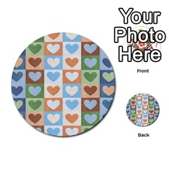 Hearts Plaid Multi-purpose Cards (Round)