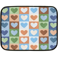 Hearts Plaid Fleece Blanket (mini)