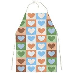 Hearts Plaid Full Print Aprons