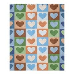 Hearts Plaid Shower Curtain 60  x 72  (Medium)
