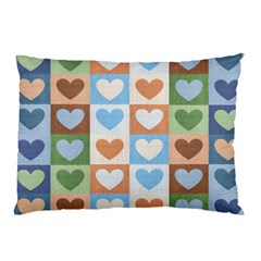 Hearts Plaid Pillow Cases (Two Sides)