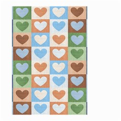 Hearts Plaid Small Garden Flag (Two Sides)
