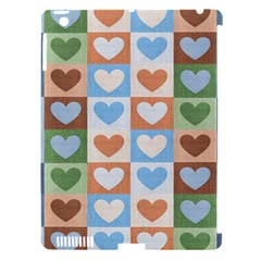 Hearts Plaid Apple iPad 3/4 Hardshell Case (Compatible with Smart Cover)